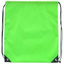 Polyester drawstring backpack green 9876