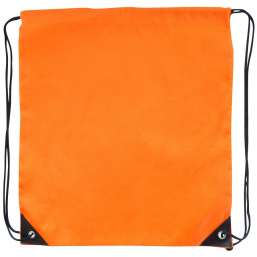 Polyester drawstring backpack orange 9876