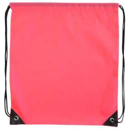 Polyester drawstring backpack pink 9876