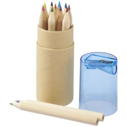Hef 12-piece coloured pencil set with sharpener natural 107068