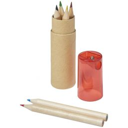 Kram 7-piece coloured pencil set rood 106220