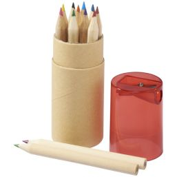 Hef 12-piece coloured pencil set with sharpener rood 107068