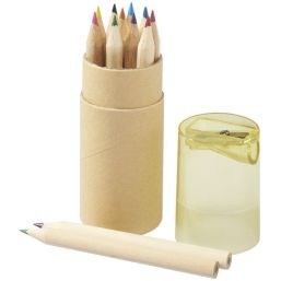Hef 12-piece coloured pencil set with sharpener yellow 107068