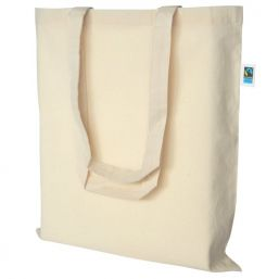 Additional image of Fairtrade cotton carrier bag with long handles